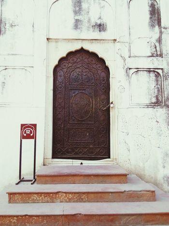 House India Redfort Olddehli Mughal Dehli Door Enjoying The View