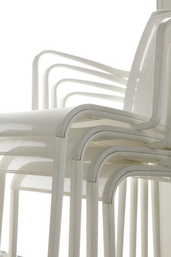 White Chairs Stacked