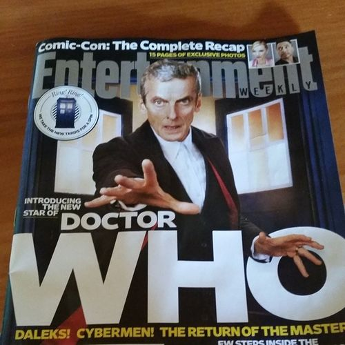 Squeeeeee! August 23 cannot get here fast enough! Doctorwho Capaldi Ew EntertainmentWeekly whovian whovianforlife 12