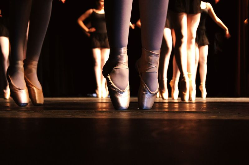 Performing Arts Event Limb Human Body Part Human Leg Dancing Performance Dancer Theatrical Performance Ballet Arts Culture And Entertainment Indoors  Ballet Dancer Adult Teenager People Low Section Stage - Performance Space Young Adult Young Women Group Of People