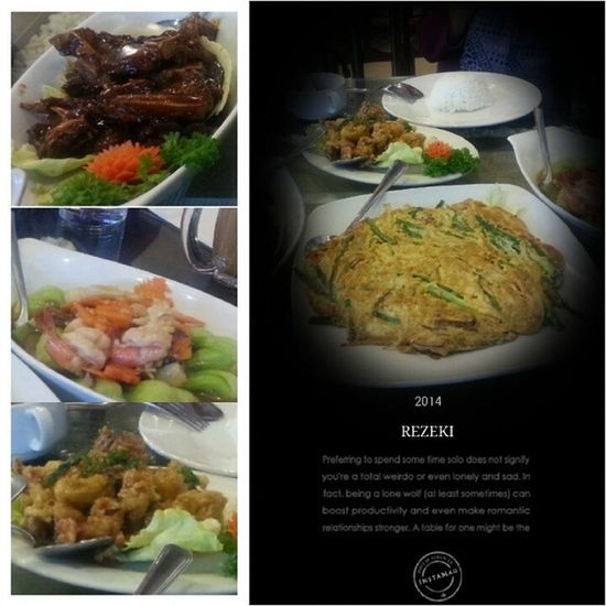 Latelunch with @sitinorhawa and kak unnie at Nyonya restaurant Buttermilk Softshellcrab bbq lamb omelete vegetables