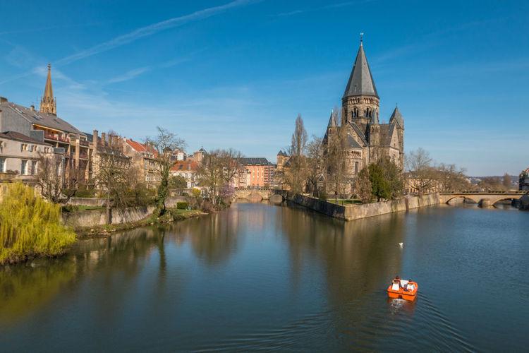 Nice view of Temple de Neuf in Metz France Church Metz Metz, France Metz Church Temple Temple De Neuf