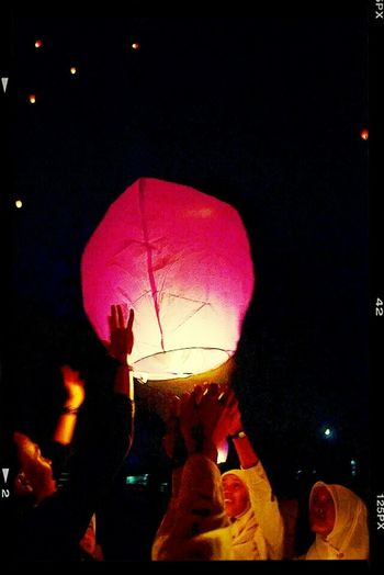 we put our hopes and dreams in this lantern, then we sent it to the stars until we can reach it by our hand.