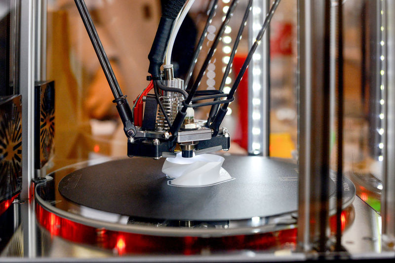 Close-Up Of 3d Printer