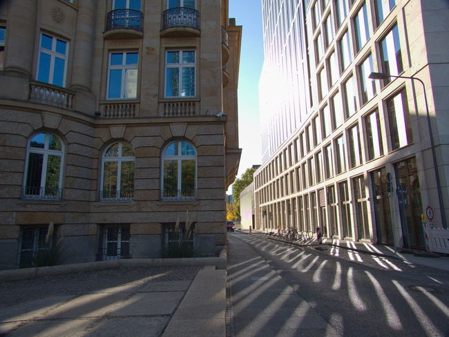 Around The House Frankfurt My City Is Beautiful Perspective Architecture Building Exterior Built Structure City Day Germany My City No People Outdoors Perspective Photography Perspective View Perspectives And Dimensions Reflection_collection Reflections Shadow Sunlight