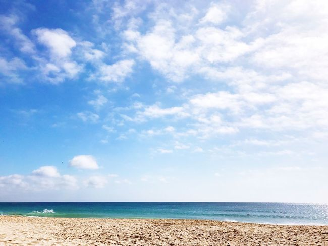 Sea Sky Beach Scenics Nature Beauty In Nature Tranquility Horizon Over Water Tranquil Scene Cloud - Sky Water Sand Day Outdoors Blue No People Vacations Landscape