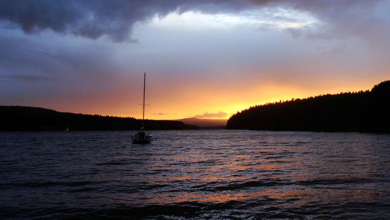 Beauty In Nature Lake Lipno No People Outdoors Sailboat Sunset Water