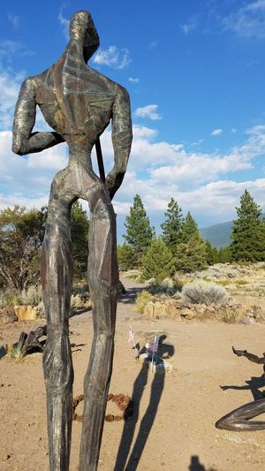 Living Memorial Veteran's Sculpture Garden Weed, CA The Flute Player Native American Memories Servicewomen Serviceman Low Angle View Surreal Mindful Service To Country Remembering Honoring The Fallen Emotional Sculpture Painful Caring Honor Zen Dramatic Sadness Silhouette Shadow Country The Week On EyeEm