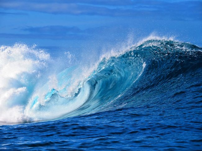 Wave Sea Blue UnderSea Power In Nature Motion Sky A New Beginning