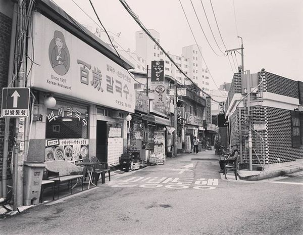 Happiness can be found even in the darkest of times, if one only remembers to turn on the light. Korea ASIA Travel Travellife Blackandwhite Street Mytravelgram Instagood Instalike Picoftheday TBT  Likes Architecture 여행에미치다 여행스타그램 여행사진 서울 한국여행 Quotes