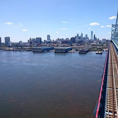 Philadelphia from the Benfranklinbridge
