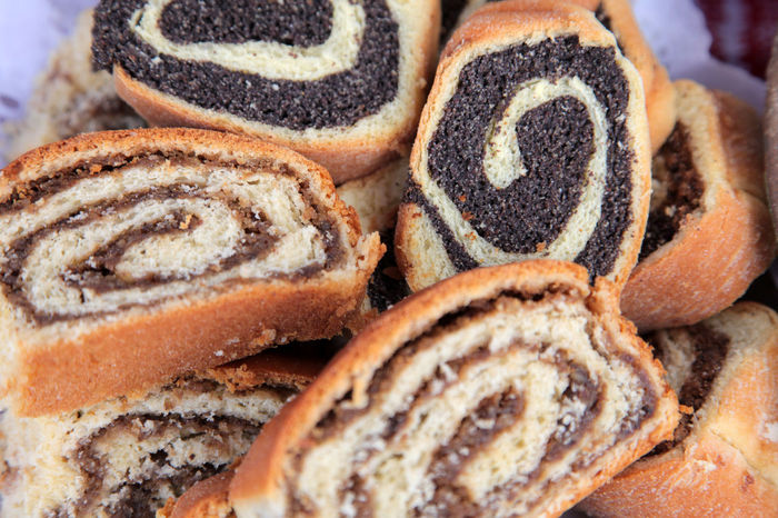 Poppy seed and walnut rolls Baked Biscuits Cake Christmas Cookies Dessert Filled Food Food And Drink Freshness Homemade Jam Pastry Popy Roll Seed Shortbread Snack Snack Sugar Sweet Sweet Food Walnut