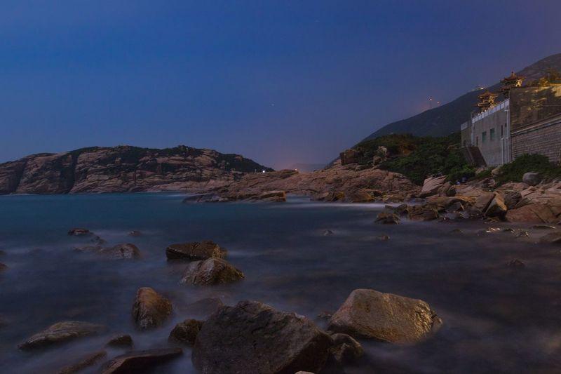 Water movement Water Nature Sea Blue Beauty In Nature Scenics Photooftheday HongKong No One Beach Photography Night Nightphotography
