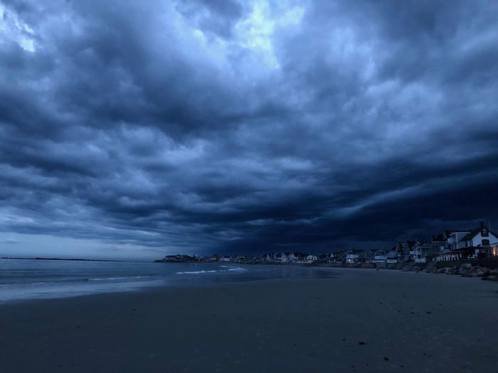 HUAWEI Photo Award: After Dark Architecture Beach Beauty In Nature Building Exterior City Cloud - Sky Land Nature No People Ominous Outdoors Overcast Scenics - Nature Sea Sky Storm Storm Cloud Tranquil Scene Tranquility Water