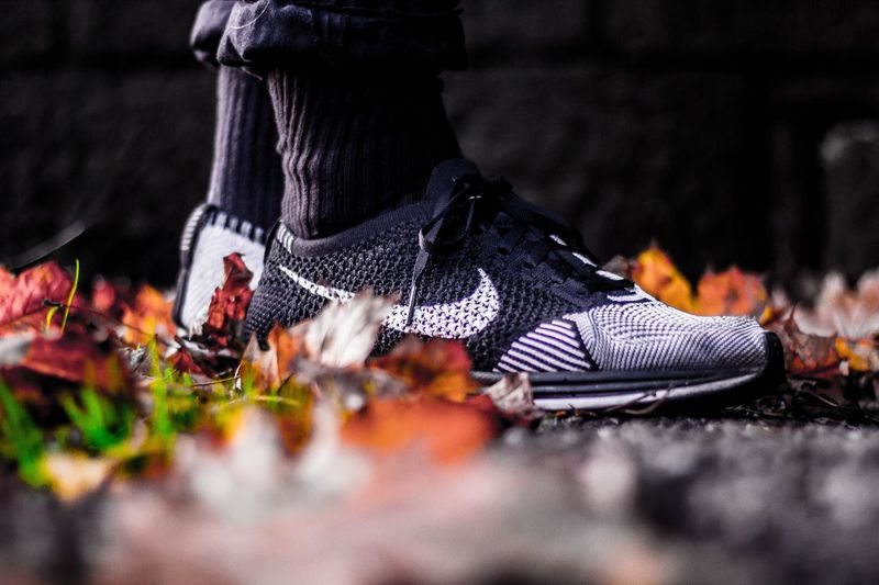 "Nike Flyknit Racer ""custom"" Autumn Outdoors Streetphotography Sneakersaddict Sneakerhead  Sneakers Sneaker Flyknitracer Flyknit Nike Shoe"