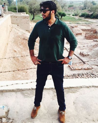 Beard Adult Outdoors Portrait Young Adult Casual Clothing One Person Historical Place 5000BC Harapa Pakistan