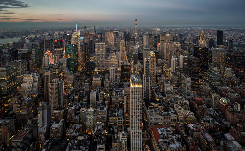 Aerial view of cityscape new york