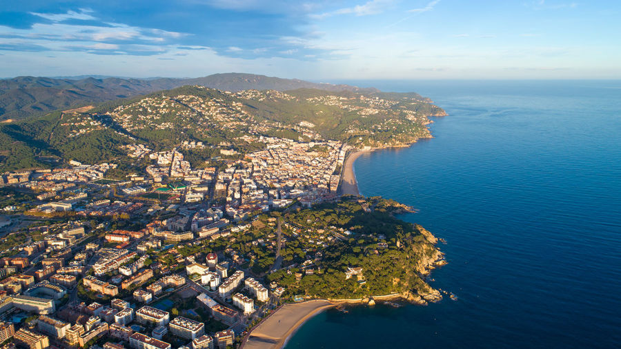 Aerial view of Lloret de Mar city at dusk, Spain Costa Brava Drone Shot EyeEm Best Shots EyeEm Selects Lloret De Mar Mediterranean Sea SPAIN The Week On EyeEm Aerial Photography Aerial View Building Exterior City Cloud - Sky Coast Day Dusk España Golden Hour Lloretdemar Mountain Scenics Sea Sunset Travel Destinations Water