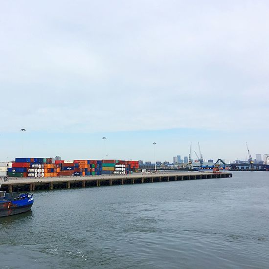 Water Transportation Nautical Vessel Harbor Mode Of Transport Sea Waterfront Outdoors Container Container Ship Logistics Port Cargo Cargo Ship Cargo Container Cargoship The Netherlands Holland Biggest Harbour In Europe Day Cityscape