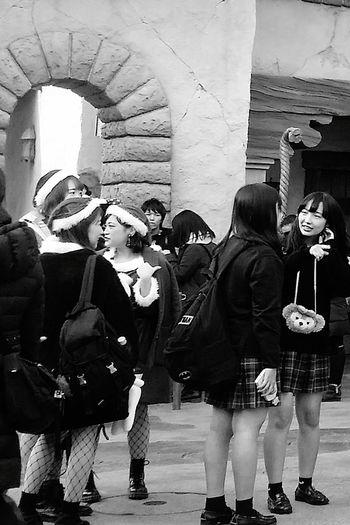 Tokyostreetphotography Streetphotography Japanstreetphotography Bnwstreetphotography Bnw_collection Bnwphotograhy Bnwjapan Bnwtokyo Students Bnw DisneySea Tokyodisneysea Resort Japan Tokyo TokyoDec2016 JapanDec2016
