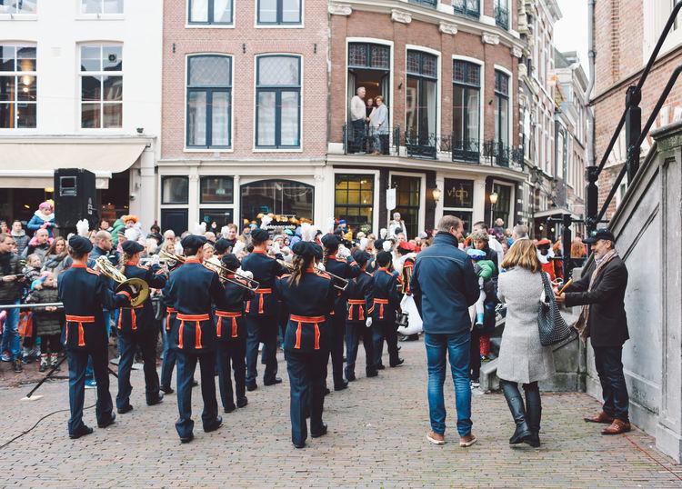 Architecture City Cultures Day Festival Festival Season Grote Markt Large Group Of People Men Military Uniform Netherlands Outdoors People Police Station Saint Nicholas Sint-Nicolaas Sinterklaas Zwarte Piet