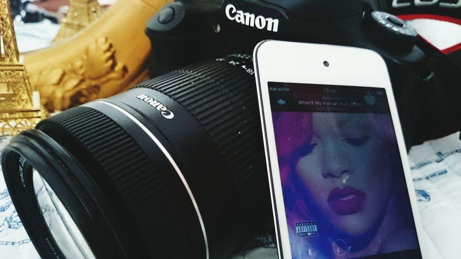 Rihanna IPod Touch Canon 60d Camera