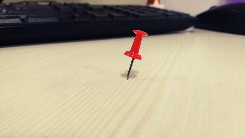 Nail it..!! Nail Red No People Close-up Shot_on_moto_g3 Red Board Pin Pin Red Pin
