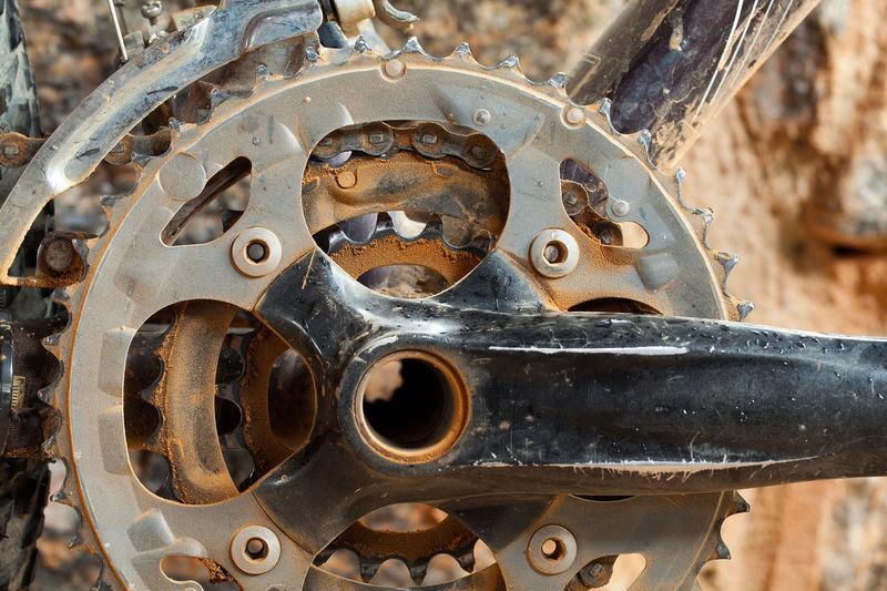 Bike Parts MTB Mountain Bike Bicycle Bike Bike Chain Bike Part Bycicle Parts Chain Chainring Chainrings Detail Dirty Mud Trail