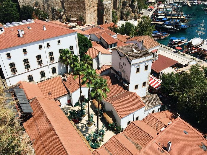 Rooftops in Antalya, Turkey Antalya Beautiful Harbor Old Town Panorama Roof Rooftop Tourist Travel Turkey Architecture Building Exterior Built Structure Culture High Angle View House No People Old Harbor Residential Building Roof Tourism Tourist Destination Town Travel Turkey Turkish