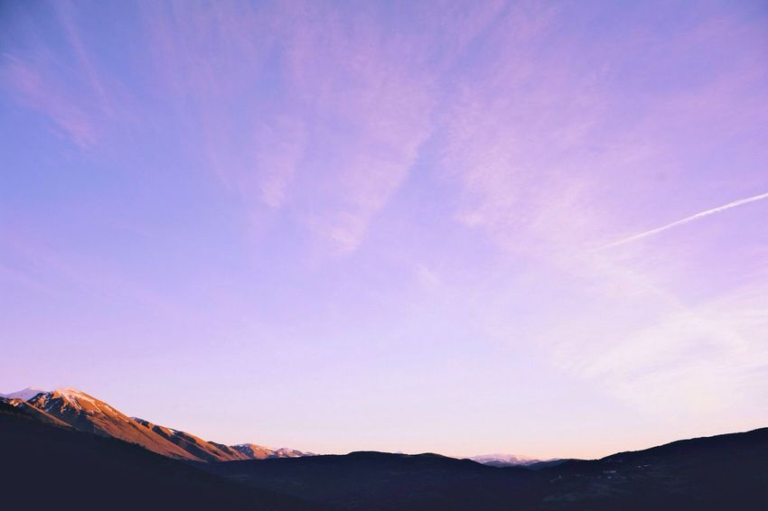 Colorful Sky - Vscocam Landscape Mountain Beautiful Sunset