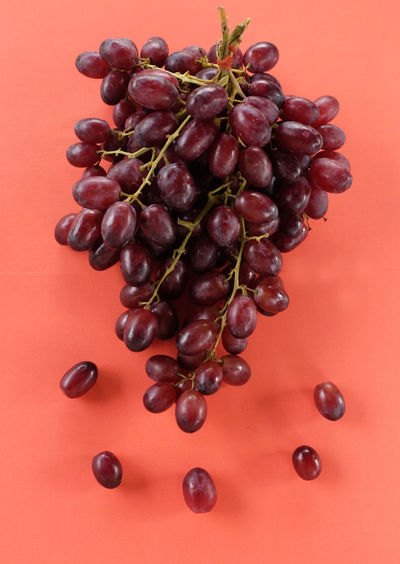 High angle view of grapes