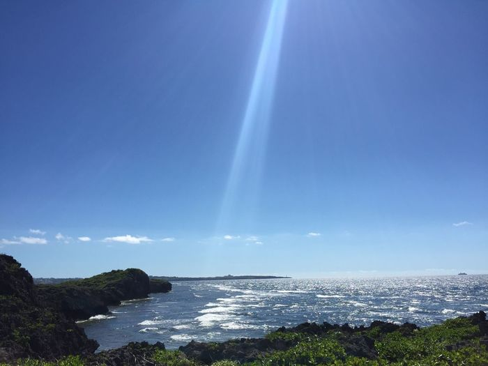 Scenic view of sea in japan