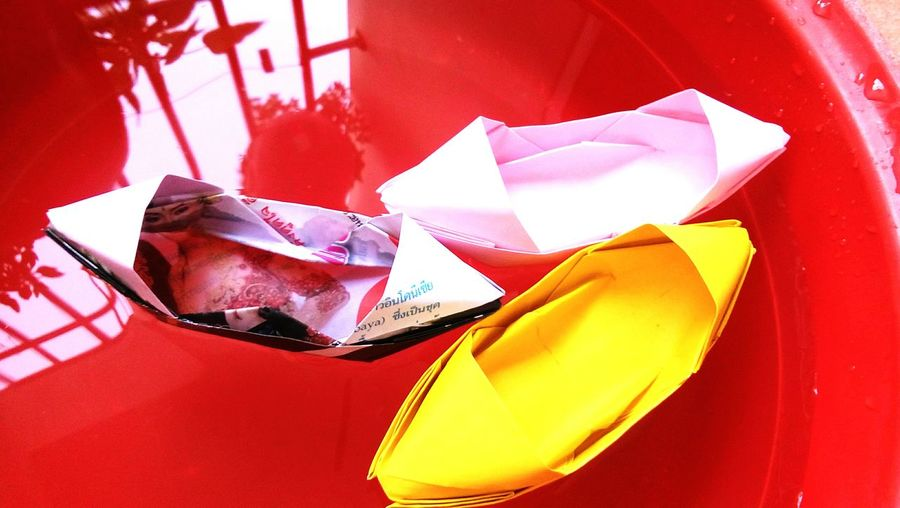 paper boat in water Paper Boat Papercraft EyeEm Gallery Origami Origami Art Origami Time Origamicolors EyeEm Selects Boat Boats⛵️ Boats And Water Boat Ride Boats And Sea Red Patriotism Close-up Crumpled Paper Wastepaper Basket Cleaning Equipment