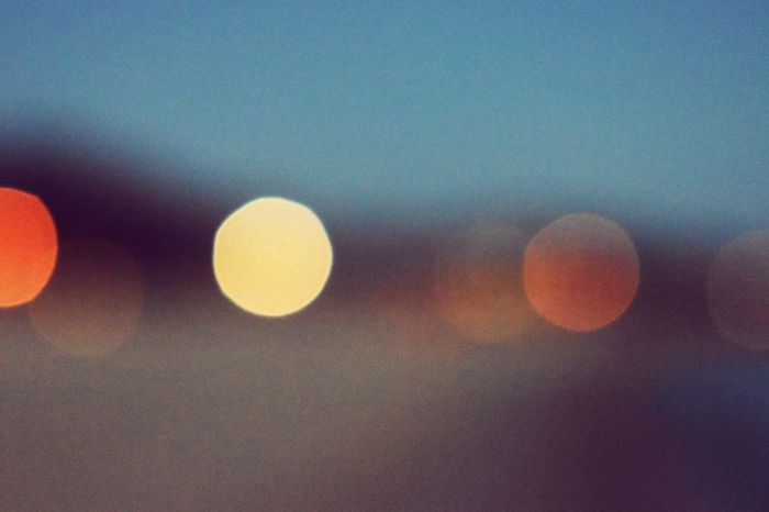 Bokeh Balls Circle Outdoors Sky No People Sunset Night Backgrounds Close-up Nature Beauty In Nature Beach