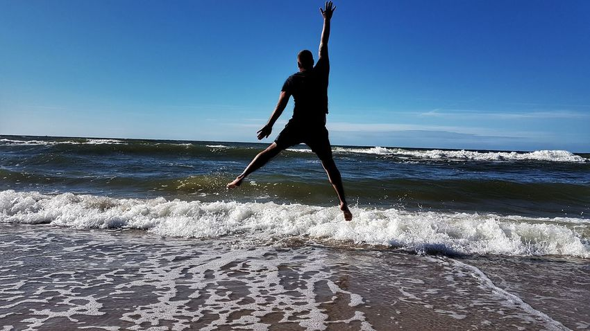 Sea Beach Sport Sand Sportsman One Person One Man Only Only Men Adult Healthy Lifestyle Men Surfing Exercising Activity Full Length Strength Athlete Vacations Water Motion Michael Jordan Wioletta Klyszcz