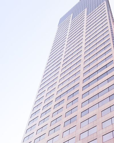 Architecture Low Angle View Skyscraper Built Structure Day Modern Building Exterior Outdoors Sky City No People pink