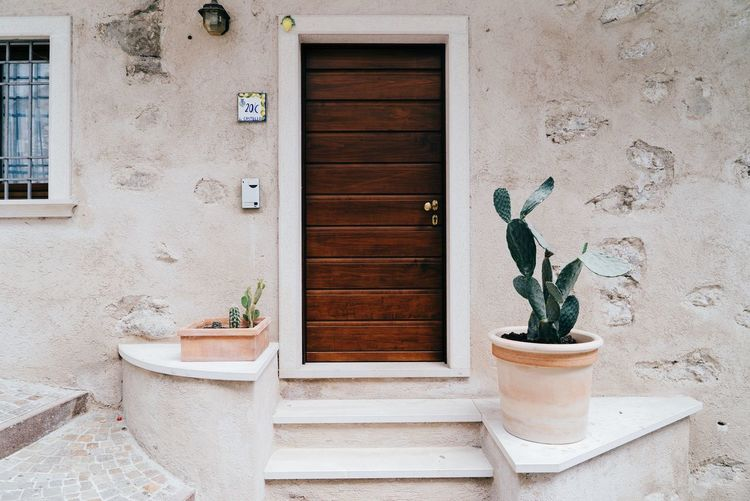 Minimalism Door Italy Plants Plants And Flowers Plants 🌱 Architecture Minimalobsession Minimal Greenery