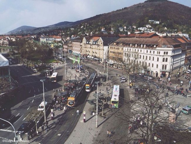 Heidelberg, Bismarckplatz. Heidelberg Bismarckplatz View