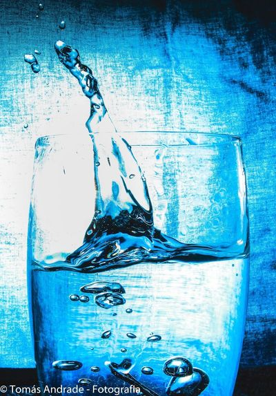 Blue Water Drop Liquid Close-up No People Paint Motion Underwater Studio Shot Ink Indoors  Dissolving Day