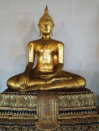 Gold Sculpture Statue Gold Colored Place Of Worship Spirituality Religion Close-up Golden Color Buddha Temple