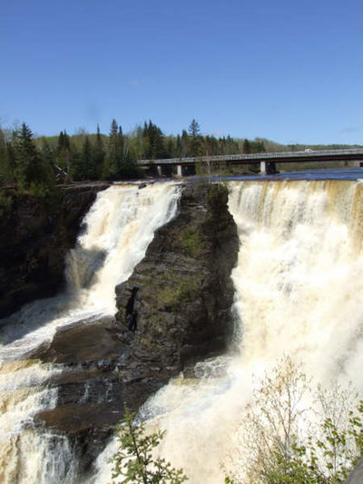 Kakabeka Falls Thunder Bay Water Tree Scenics - Nature Flowing Water Nature Waterfall No People Flowing