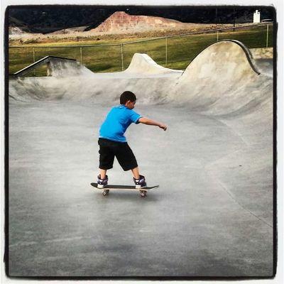 Enjoying Life Hanging Out Skatepark Skateboarding
