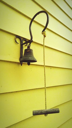 No People Outdoors Ring Bell Architecture Antique Yellow Carp, Ontario, Canada. Paint The Town Yellow