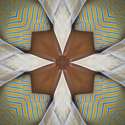 Caleidoscope Series - Readymade, Recycle & Reuse. ROVA01 Leather Matras Couch Caleidoscope Readymade Reuse Recycling EyeEm Selects Pattern Indoors  Symmetry No People Full Frame Abstract Close-up Creativity Backgrounds Shape Striped Brown Art And Craft Digital Composite Directly Above