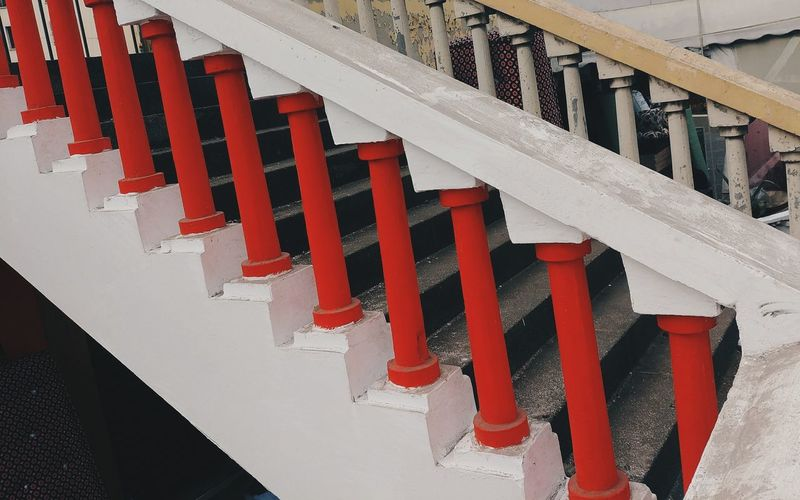 What is so special about it 🎨 Red Stairs Staircase Stairway Up All The Way Up Ornate Exterior Decoration Exterior Design Stretching Streetphotography Ornaments Ornament Design MnM MnMl Mnmlsm Minimalism Minimal Minimalistic Minimalmood Minimalist Minimalobsession Minimalart Minimalarchy