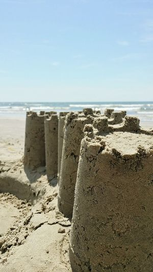 Sandcastles Sea A Day At The Beach