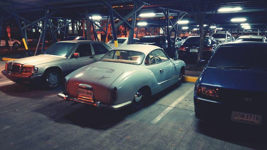 old karmann Ghia #karmannghia #VW #Lowlight Car Transportation Night Land Vehicle Mode Of Transport Illuminated No People