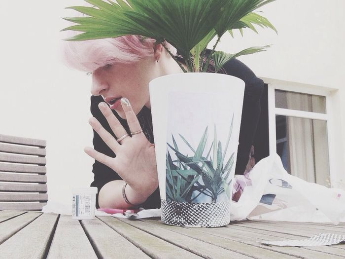 Steph Filter Selfportrait Plants DIY