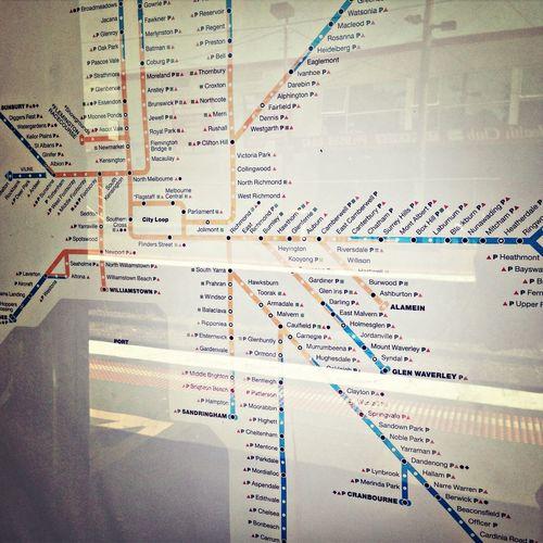 Rail map reflection