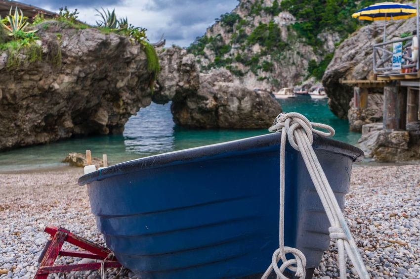 Italy Positano Boat Sea And Sky Water Sea Nature No People